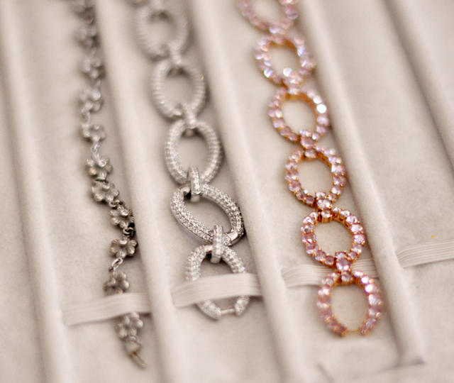fine jewelry, diamond bracelets, pink sapphires