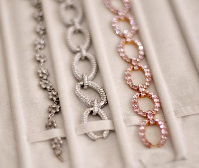 fine jewelry, diamond bracelets, pink sapphires
