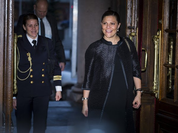 Crown Princess Victoria of Sweden attended the scholarship presentation ceremony at the Swedish Royal Opera organized by Micael Bindefeld Foundation in memory of Holocaust victims.