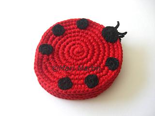 Crochet Coasters Ladybug