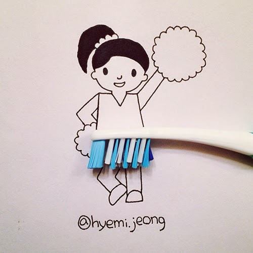 07-Cheerleader-Hyemi-Jeong-Everyday-Things-to-Draw-With-www-designstack-co