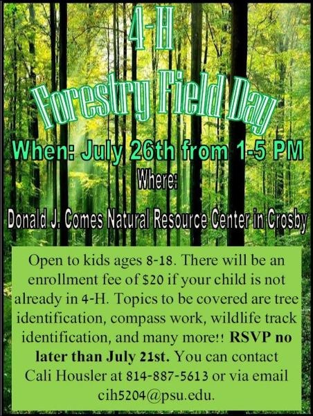 7-21 Register Forestry Field Day