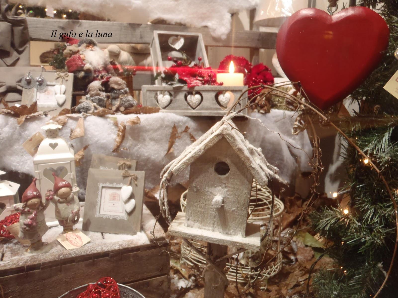 Il Gufo e la Luna shabby chic & country style: Rosso e Bianco per un Natale tutto country chic