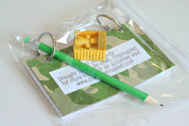 DIY log book for a geocache - inside a ziplock bag with a pencil and mini sharpener