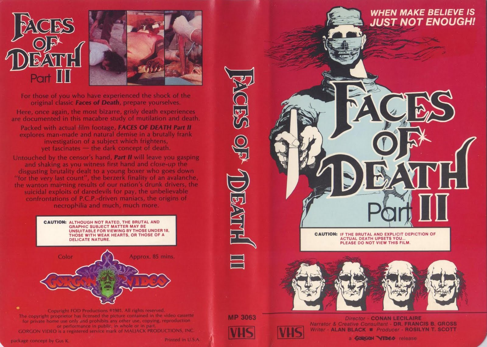 a 24 hour nightmare of terror faces of death ii 1981 vhs