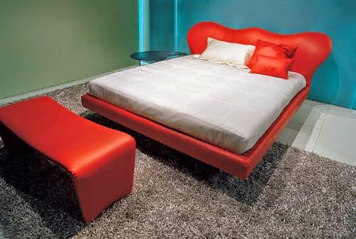 italian furniture modern red bedroom