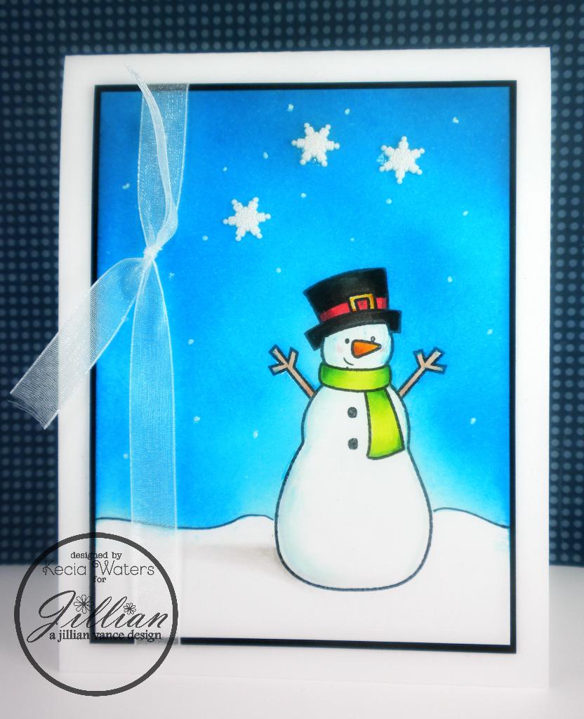 A Jillian Vance Design, Whimsie Doodles, Kecia Waters, snowman