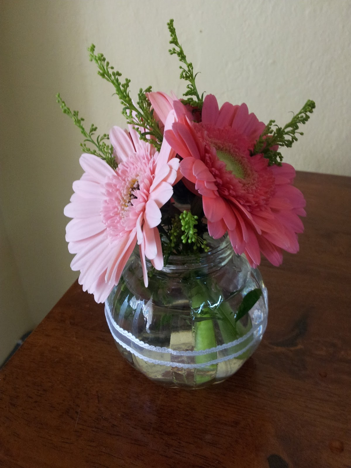 Wedding deco by nora simple flower arrangement for