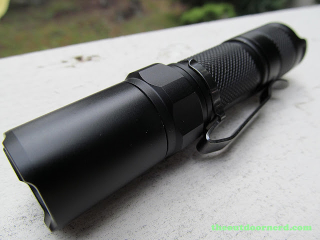 Nitecore MT1A AA Flashlight: Closeup Of Head