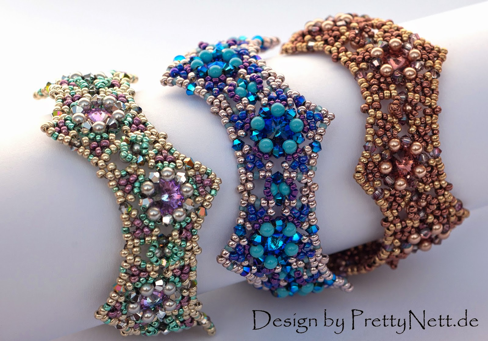 "Beading Pattern for bracelet ""Star Dust"" by PrettyNett"
