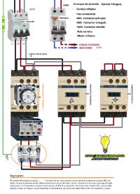 esquema electrico de arranque motor trifasico estrella triangulo de potencia  http://adf.ly/eVkR2