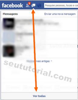 apagar todas mensagens facebook