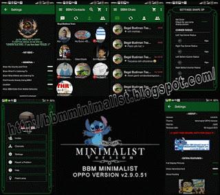 Mod BBM Minimalist Oppo Version 2.9.0.51 Apk