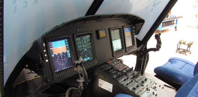Así quedarán las cabinas de los helicópteros modernizados por la Fuerza Aérea Colombiana en el Comando Aéreo de Mantenimiento -CAMAN-.