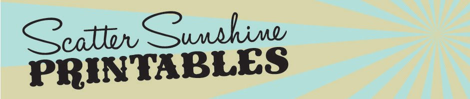 scatter sunshine printables