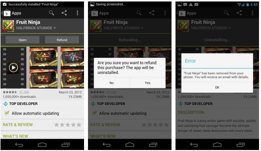 วิธีการเรียกเงินคืนจาก Google Play store หากไม่พอใจแอพนั้นๆ - How to refund android app
