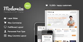 Modernize Theme Website Instansi Perusahaan