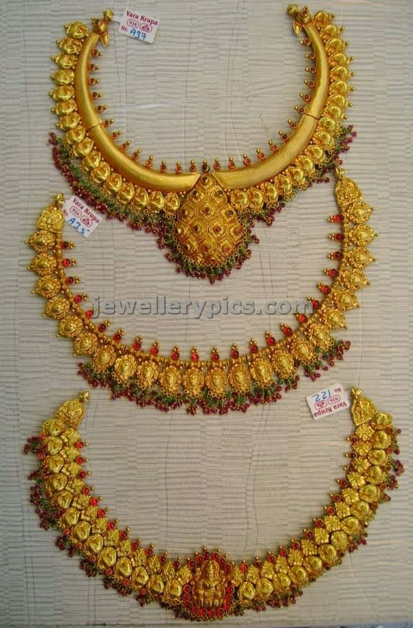 antique short necklace set catalogue