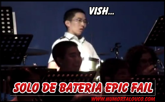 Vídeo: Solo de Bateria EPIC FAIL