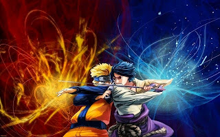 Naruto vs Sasuke wallpaper