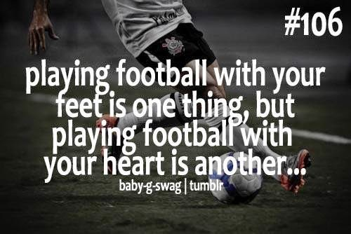 Playing football with your feet is one thing