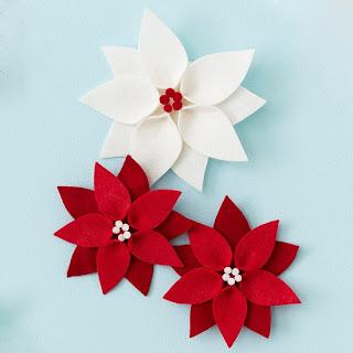Flor para decoração de natal
