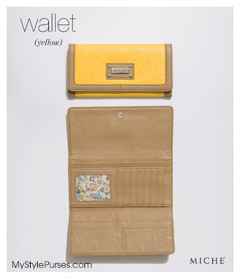 Miche Yellow & Tan Wallet