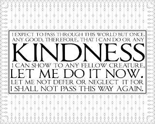 Printable Kindness quote