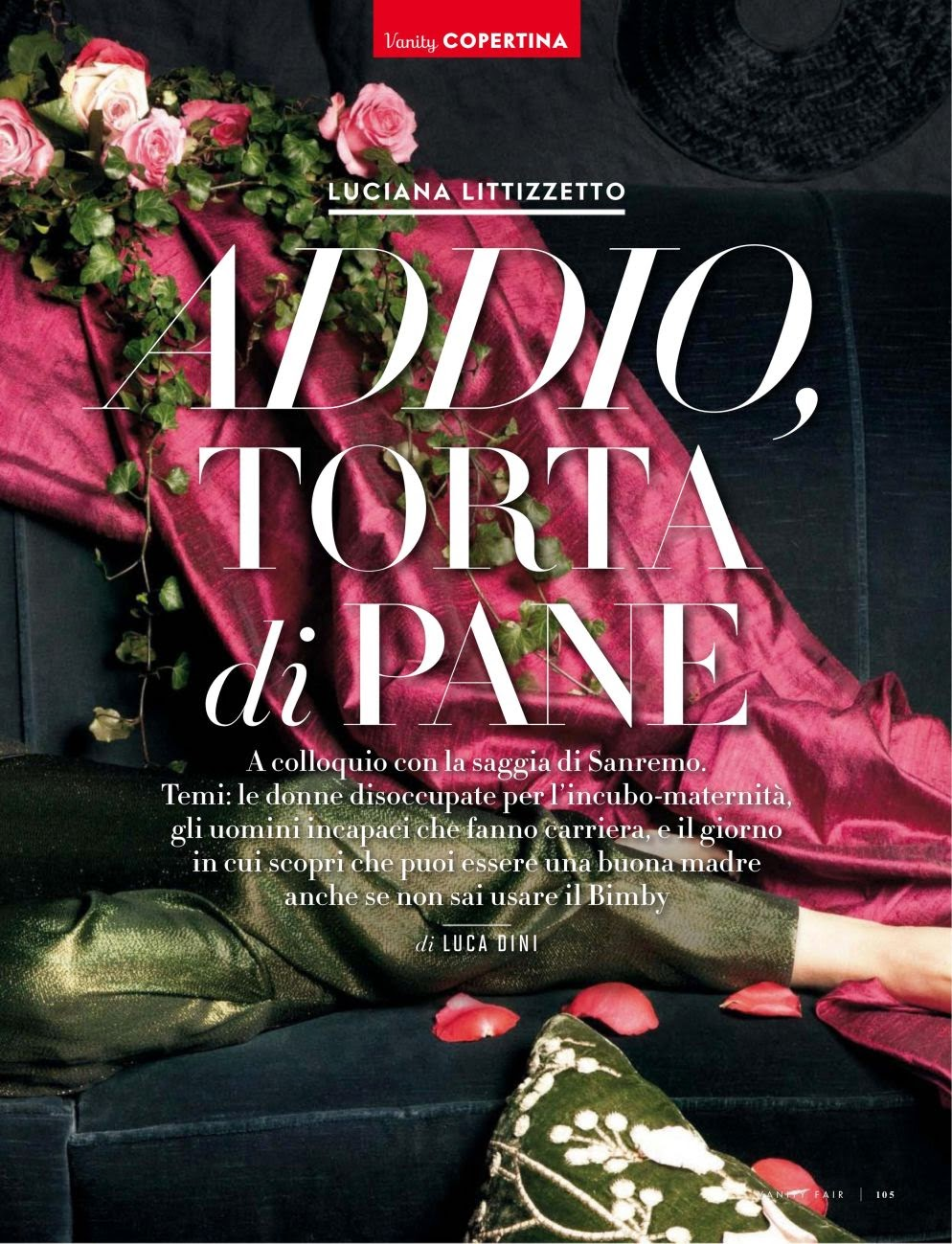 Luciana Littizzetto HQ Pictures Vanity Fair Italy Magazine Photoshoot February 2014