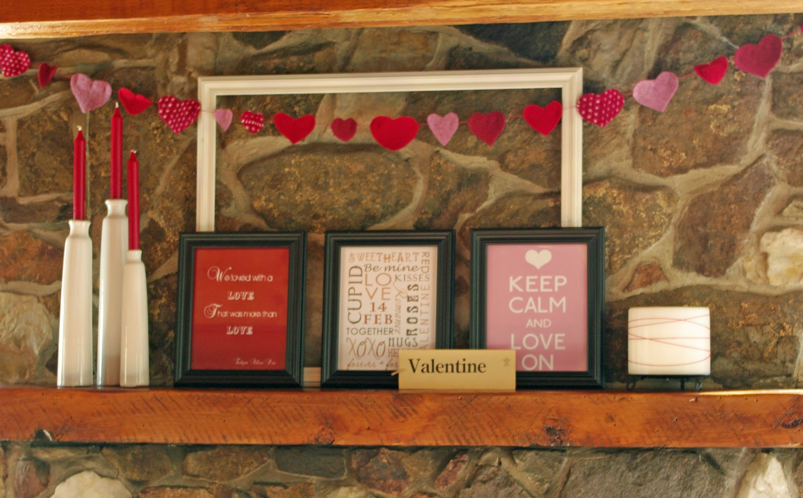 Thrifted valentine s day decor