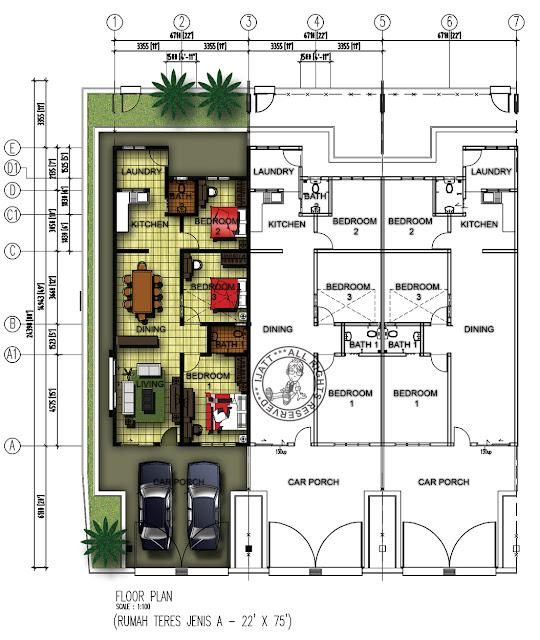 Plan Rumah Kediaman http://unforgettableart.blogspot.com/2012/10/pelan ...