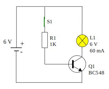 saklar-transistor-kondisi-on