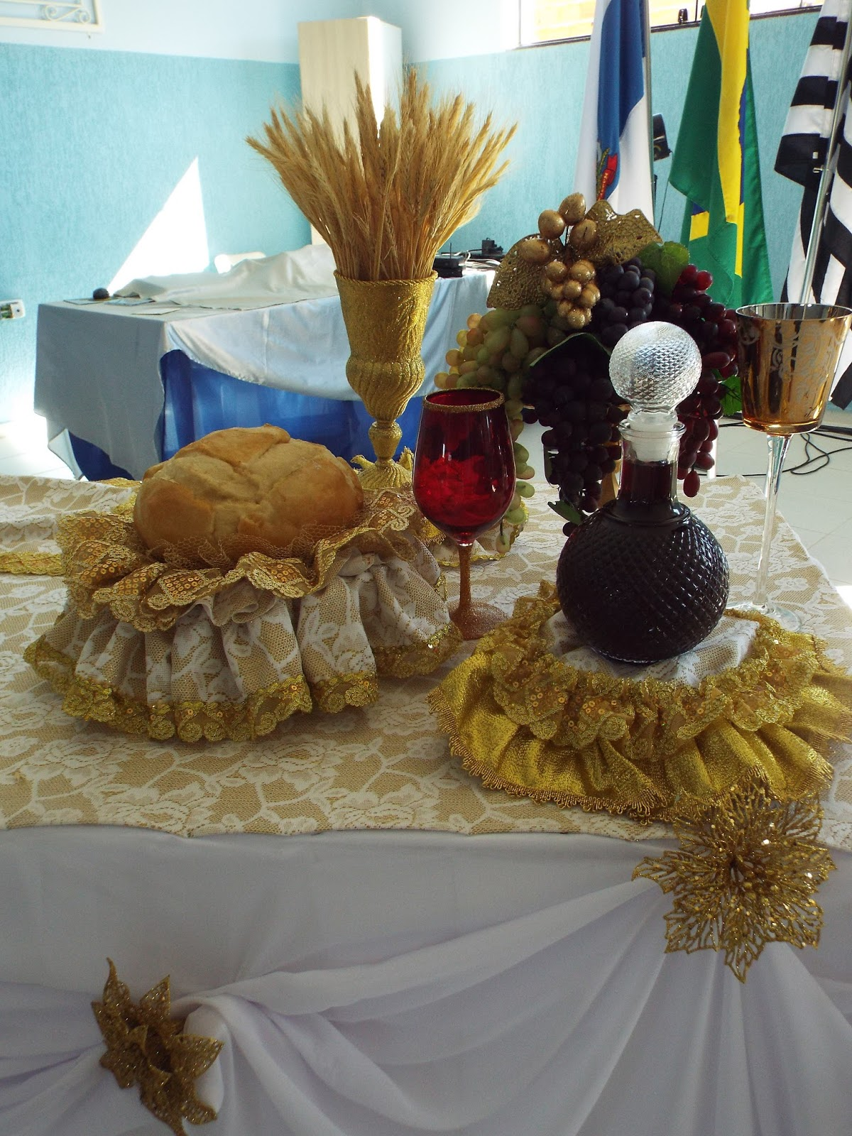 Artesanatos cia toalhas para decora o de mesa de santa ceia for Para adornar fotos