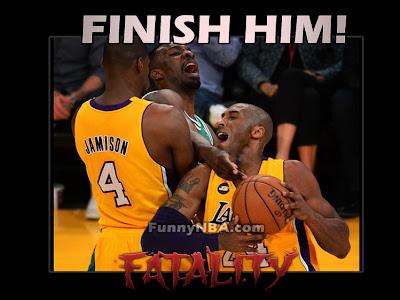 lakers vs bostons mortal kombat finish him fatality kobe funny nba meme jokes photos 2013 finishin him! in nba the mortal kombat edition nba funny moments