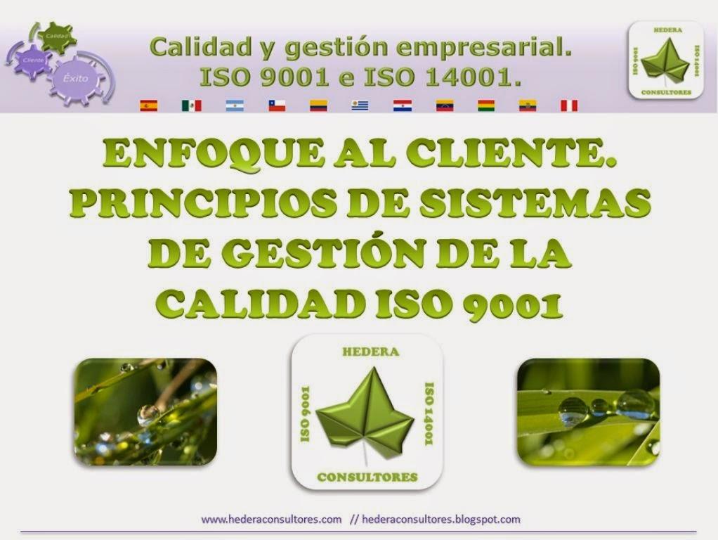 Enfoque al cliente ISO 9001