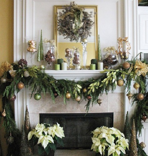 Elegant Christmas Themes: Simple And Elegant Christmas Mantel Decorations Home