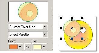 Lựa chọn màu sắc cho đối tượng khi dùng lệnh Lens