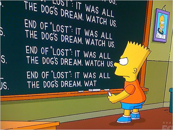 Bart Simpson, Lost finale