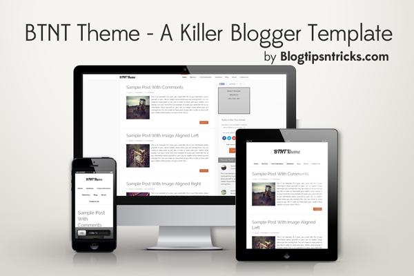 BTNT a Responsive Blogger Theme Demo