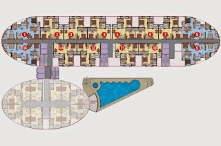 Apex Tower :: Floor Plans,Typical Floor Plan 14 Units