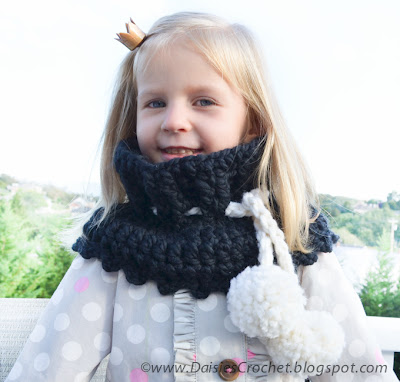 crochet black wrap cowl pattern