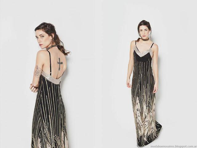 Moda primavera verano 2016 vestidos de fiesta largos. La Cofradía primavera verano 2016.