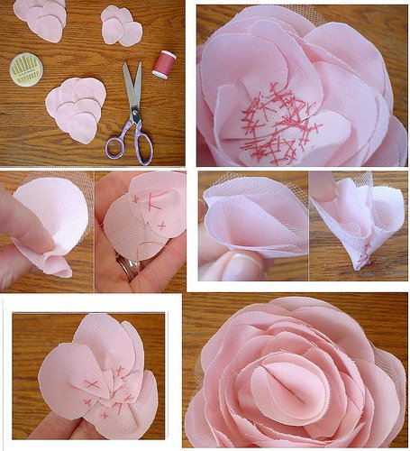 Diy fabric flowers pictures photos and images for - Como hacer cuadros de tela ...