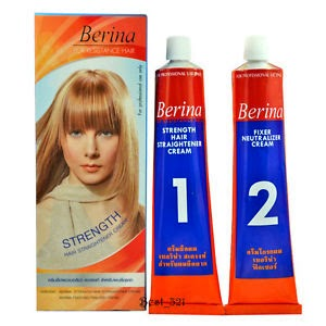 BERINA STRENGTH HAIR STRAIGHT SYSTEM INTENSE CREAM FOR RESISTANCE HAIR