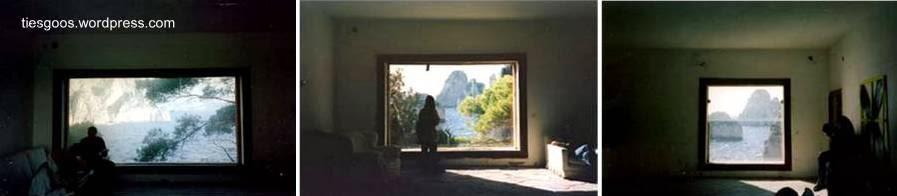 Ventanas de la Casa Malaparte en Capri