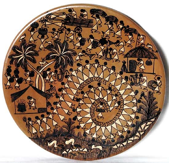 Earthen Plate Painting