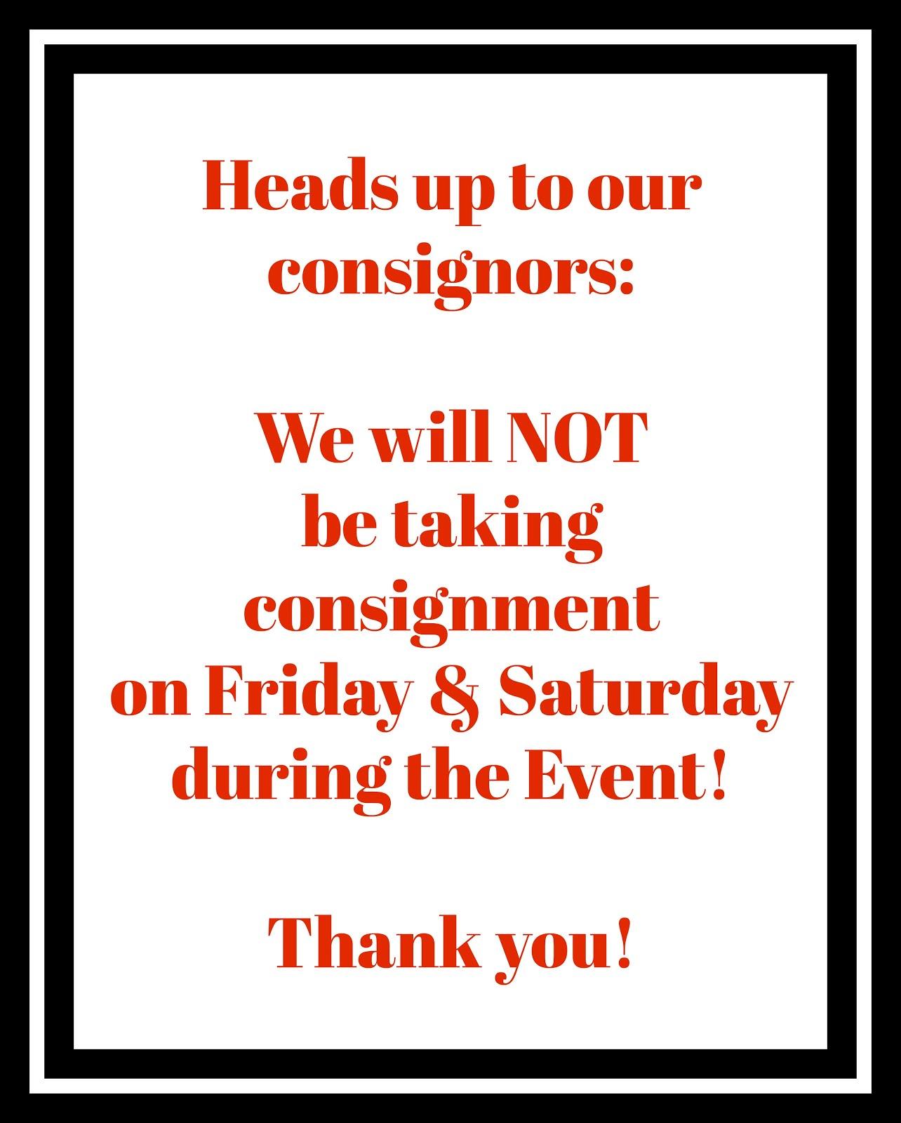 Dear Consignors!
