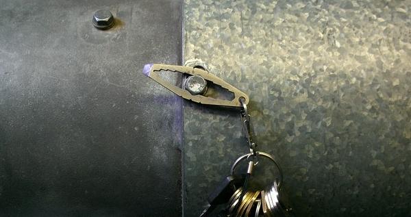 Mini Titanium WTF Keychain