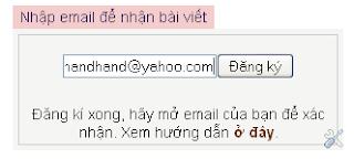 cach dang ky nhan bai viet qua email, dang ky nhan bai