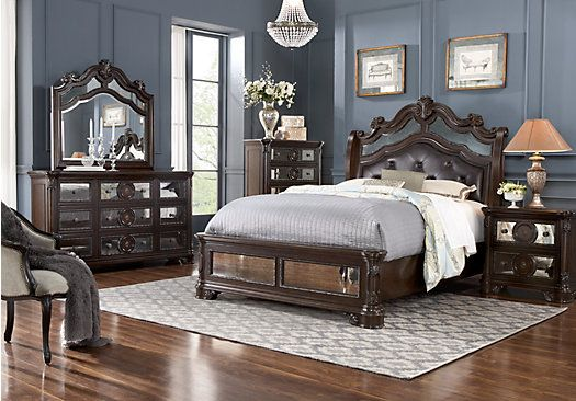 kari likelikes glass castle king mirror bedroom set